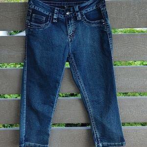Suko Jeans women's Stretch Capri pants size 6 blue